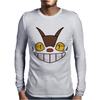 Cat Bus Face Mens Long Sleeve T-Shirt
