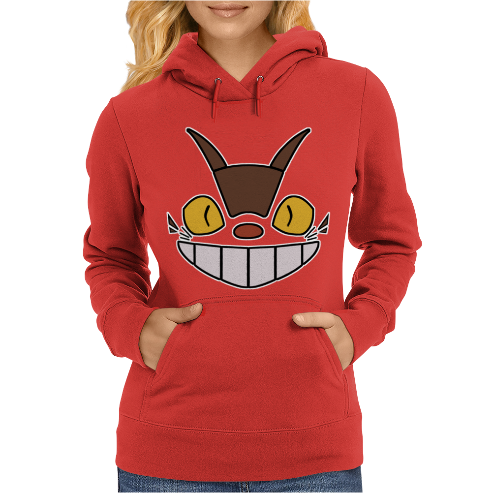 Cat Bus Face Womens Hoodie