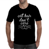 Cat Hair Don't Care Cute Crazy Cat Mens T-Shirt