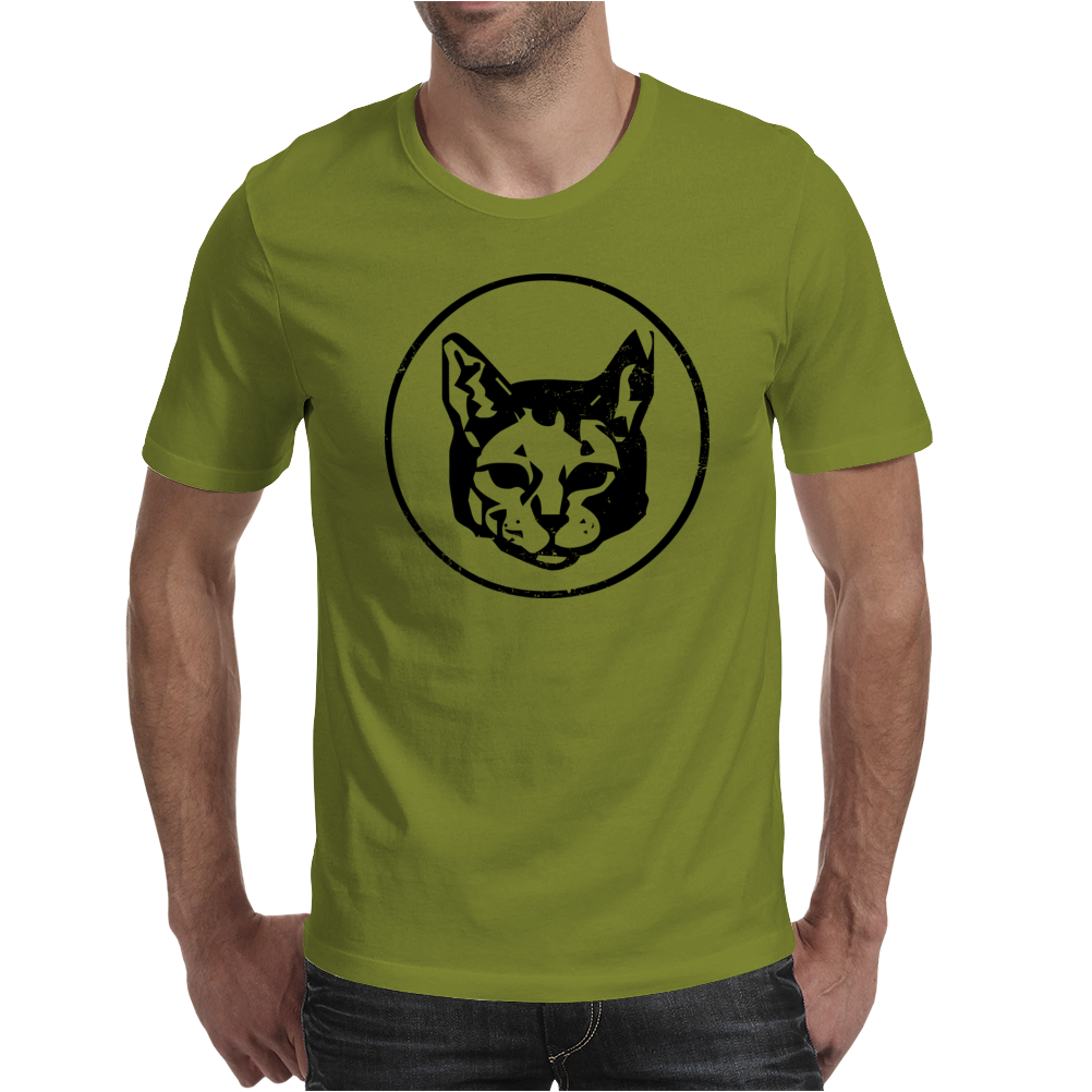 Cat Head Mens T-Shirt