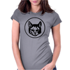 Cat Head Womens Fitted T-Shirt