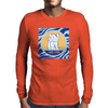 Cat in Pray Mens Long Sleeve T-Shirt