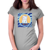 Cat in Pray Womens Fitted T-Shirt