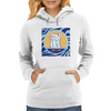 Cat in Pray Womens Hoodie