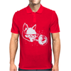 Cat in Space lasers nerd hipster Mens Polo