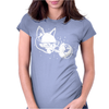 Cat in Space lasers nerd hipster Womens Fitted T-Shirt