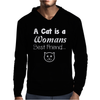 Cat is a Best Friend Mens Hoodie