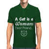 Cat is a Best Friend Mens Polo
