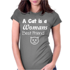 Cat is a Best Friend Womens Fitted T-Shirt