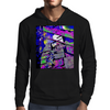 Cat on the steps Mens Hoodie