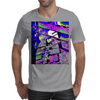 Cat on the steps Mens T-Shirt