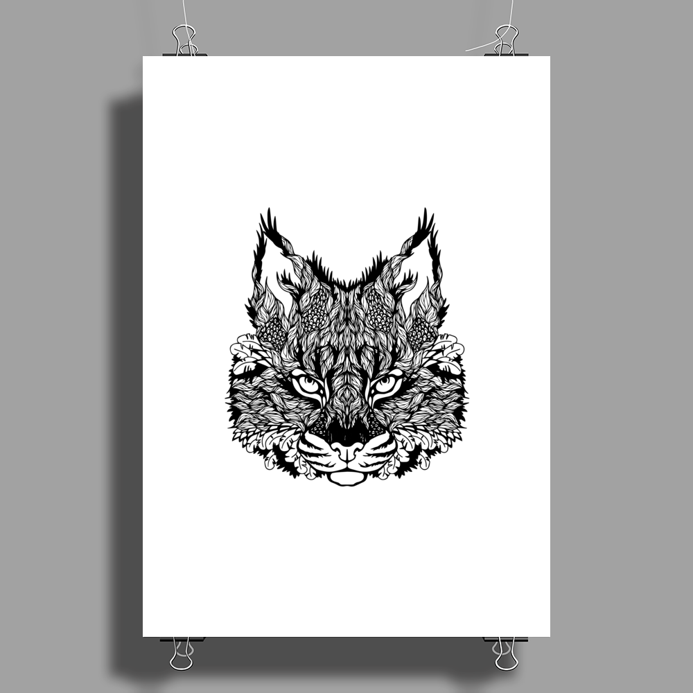 Cat Poster Print (Portrait)