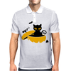 Cat Sits In A Pumpkin Mens Polo
