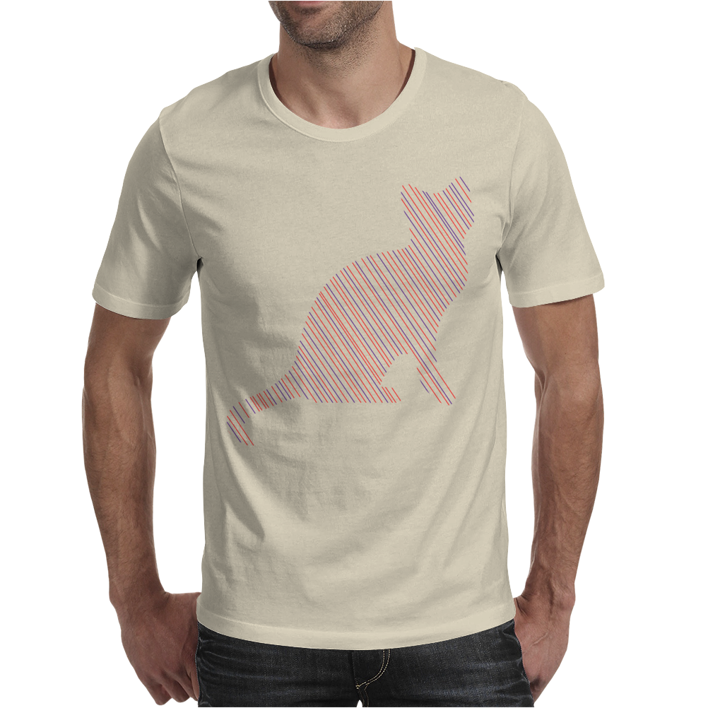 Cat stripes Mens T-Shirt