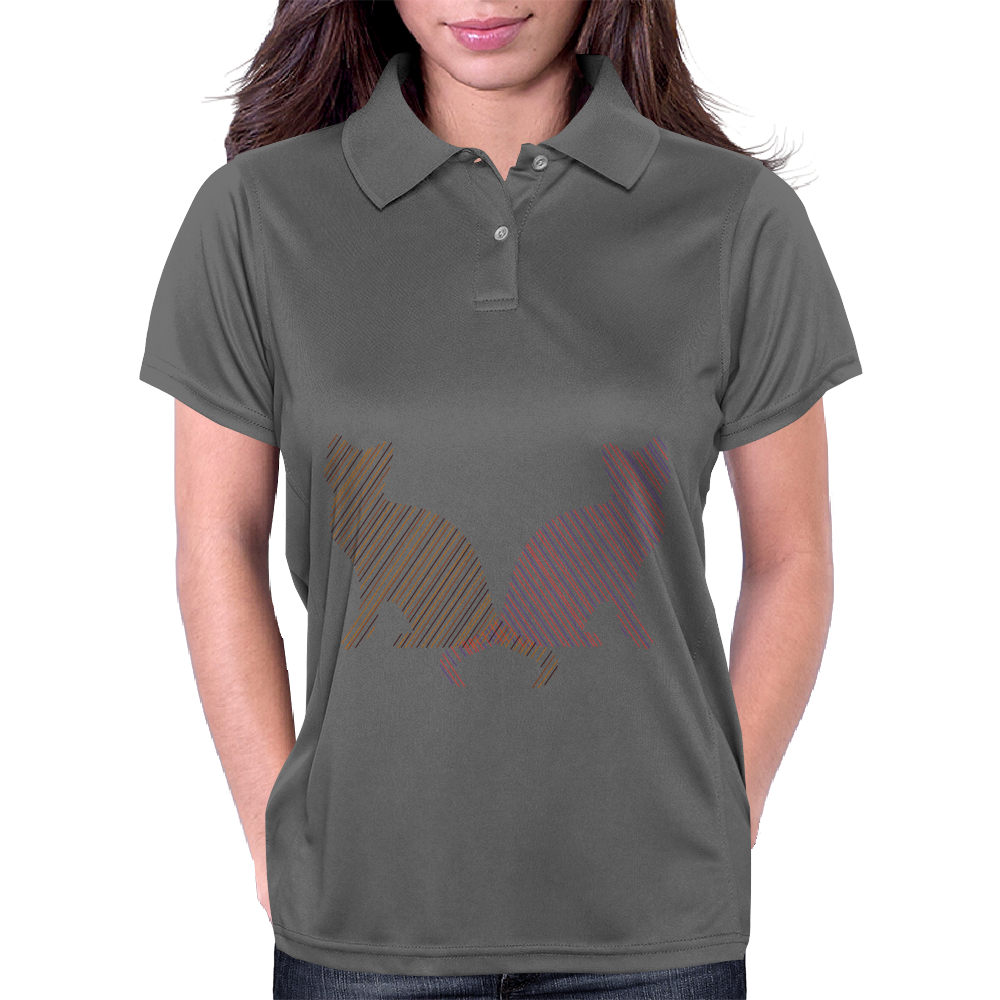 Cat stripes2 Womens Polo
