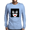 Cat Woman Face Mens Long Sleeve T-Shirt
