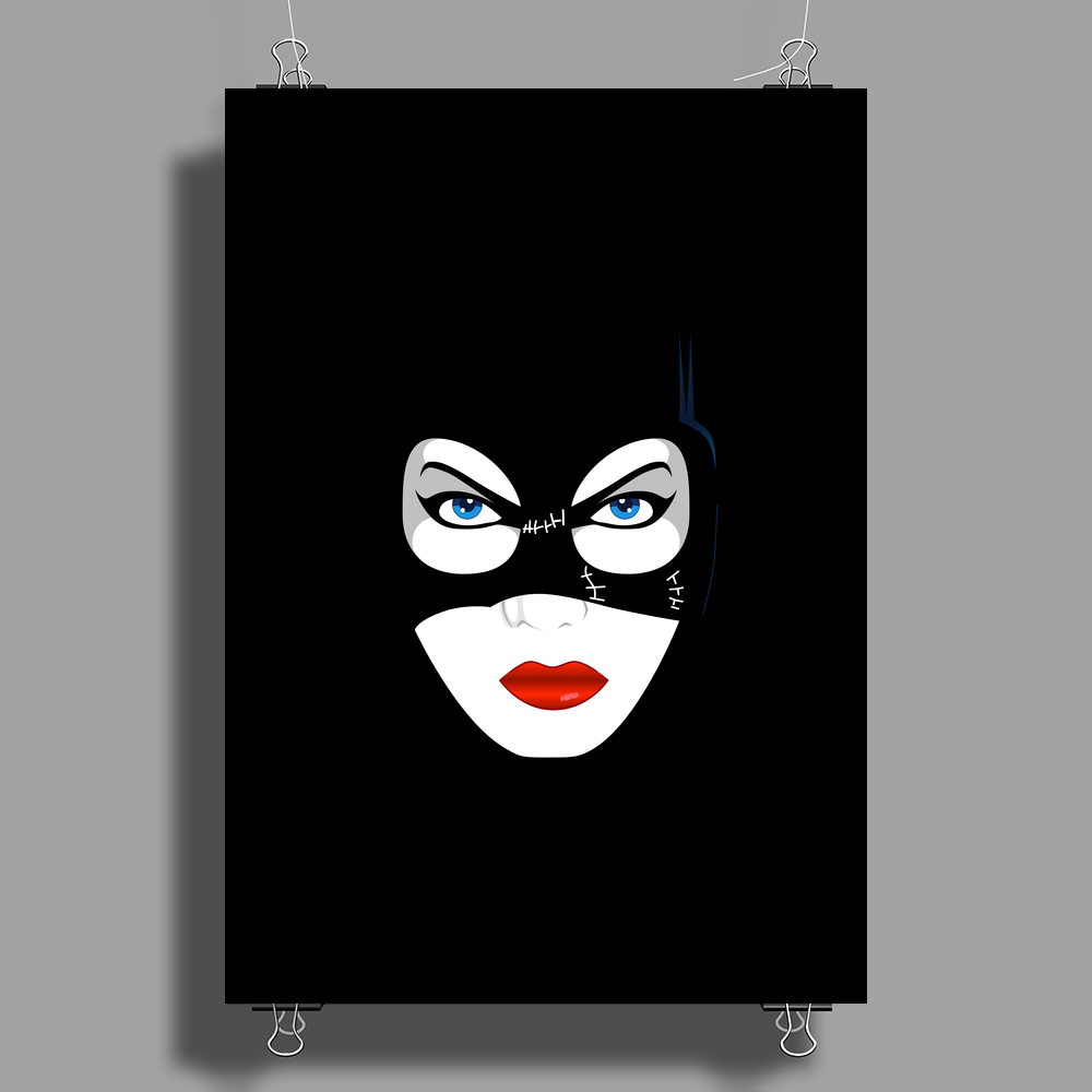 Cat Woman Face Poster Print (Portrait)