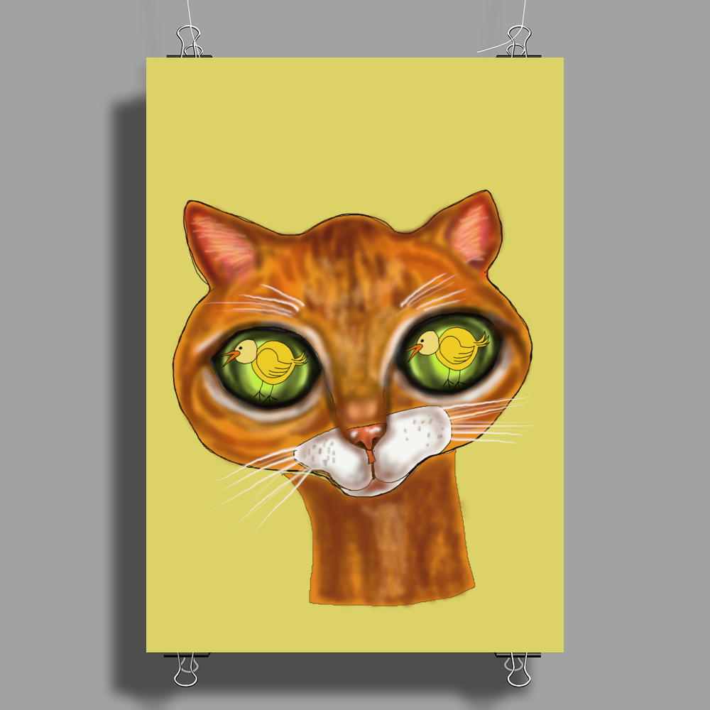 Cats Eyes Poster Print (Portrait)
