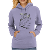 Cats Suck Bulldog On Chopper Motorcycle Womens Hoodie