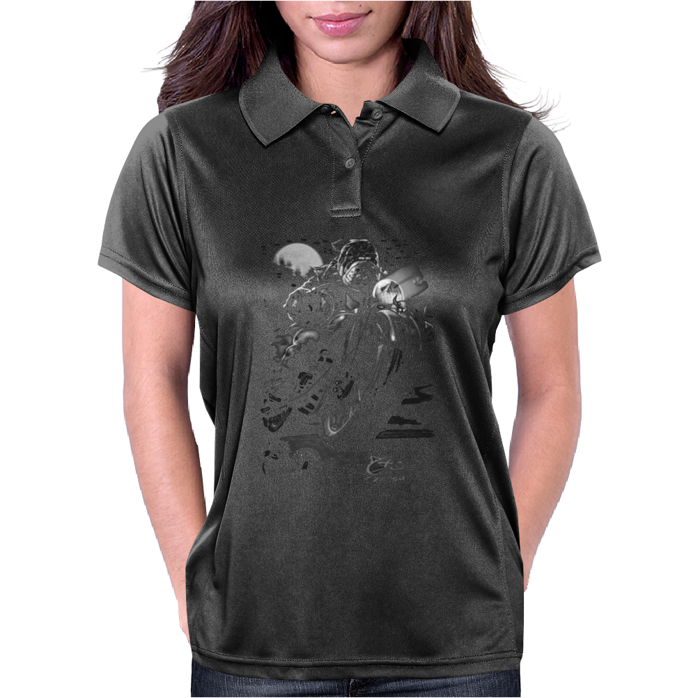 Cats Suck Bulldog On Chopper Motorcycle Womens Polo
