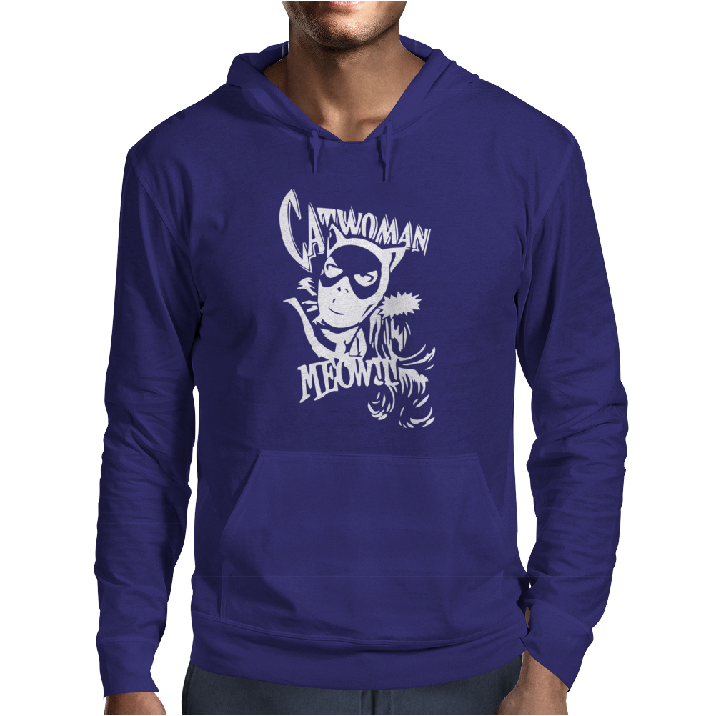 Catwoman Meow Comic Funny Mens Hoodie