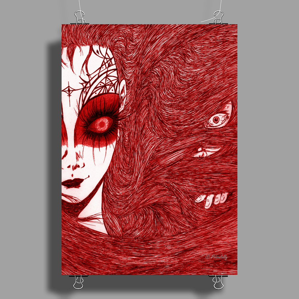 CAUGHT (Red Version) Poster Print (Portrait)