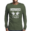 Caution! Jazz handsFunny jazz dance comic boogie camp trumpet Mens Long Sleeve T-Shirt