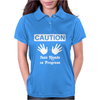 Caution! Jazz handsFunny jazz dance comic boogie camp trumpet Womens Polo