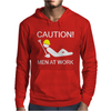 Caution Men At Work Mens Hoodie