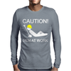 Caution Men At Work Mens Long Sleeve T-Shirt