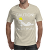 Caution Men At Work Mens T-Shirt