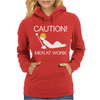 Caution Men At Work Womens Hoodie