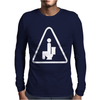 Caution Pooping Mens Long Sleeve T-Shirt