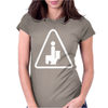 Caution Pooping Womens Fitted T-Shirt