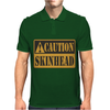 Caution Skinhead, Ideal Birthday Gift Or Present Mens Polo