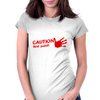 CAUTION wet paint Womens Fitted T-Shirt