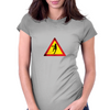 Caution, Zombies. Womens Fitted T-Shirt