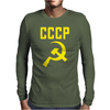 CCCP Hammer & Sickle  Soviet Union Communist Communism Russia Red Star Mens Long Sleeve T-Shirt