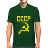 CCCP Hammer & Sickle  Soviet Union Communist Communism Russia Red Star Mens Polo