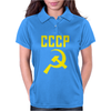 CCCP Hammer & Sickle  Soviet Union Communist Communism Russia Red Star Womens Polo