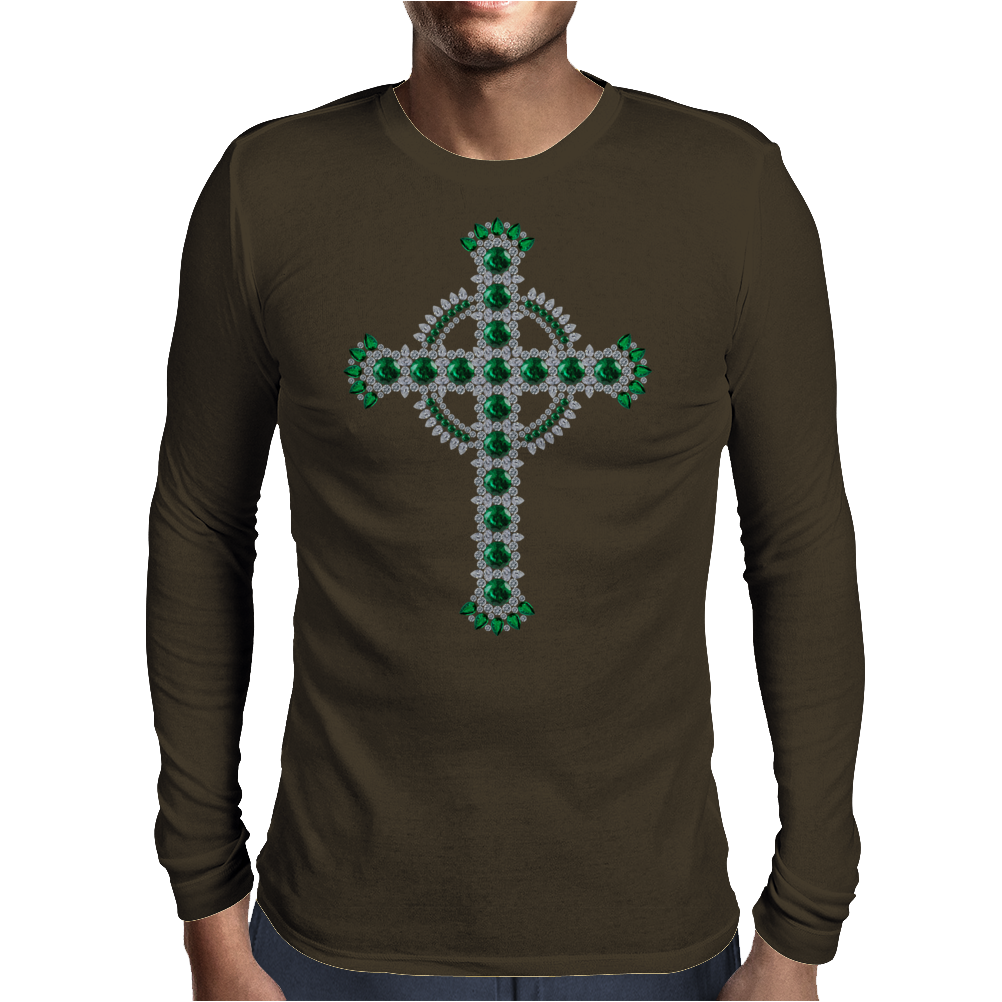 Celtic Cross Mens Long Sleeve T-Shirt