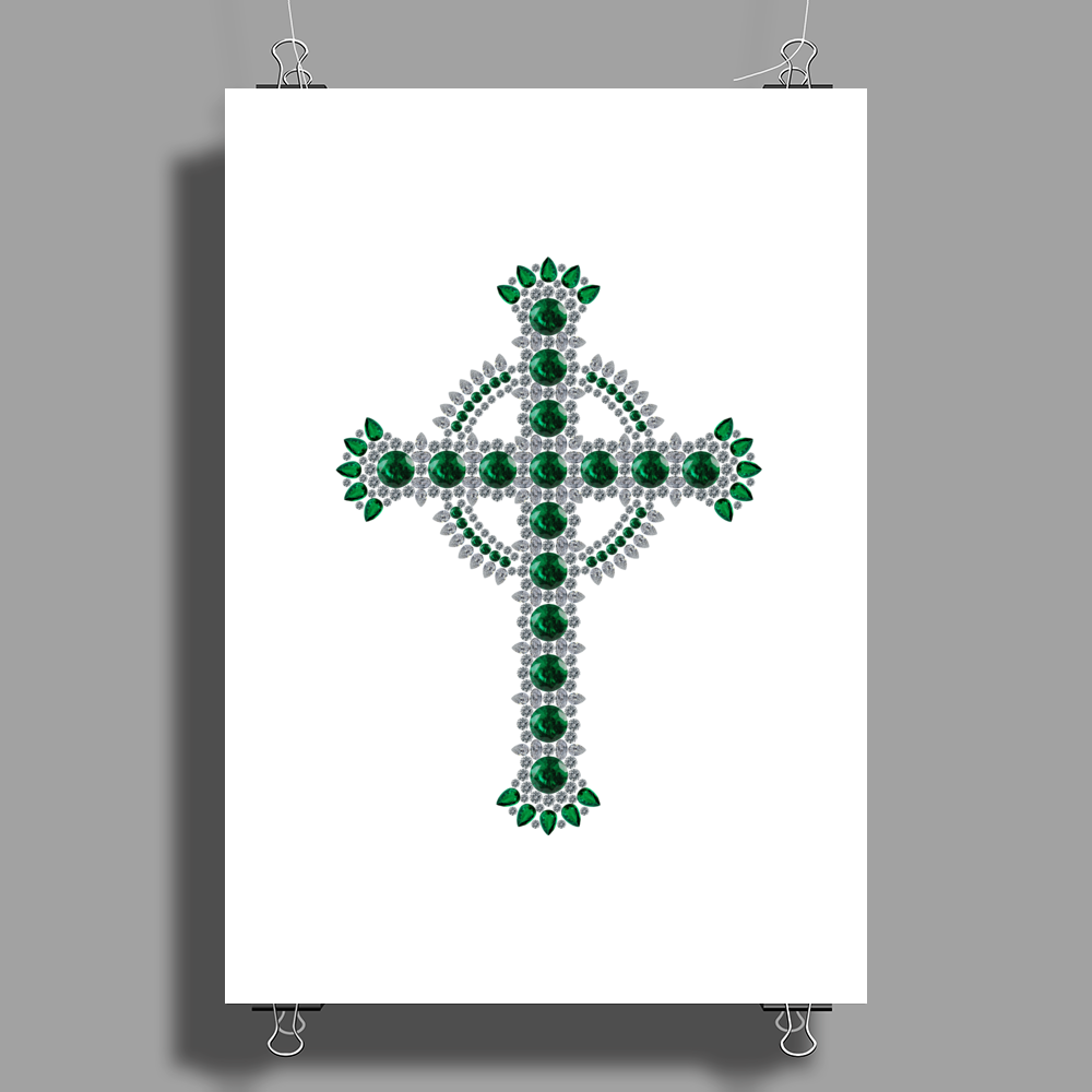 Celtic Cross Poster Print (Portrait)
