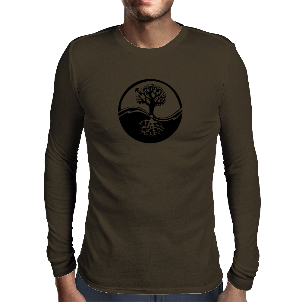 Celtic Tree Mens Long Sleeve T-Shirt