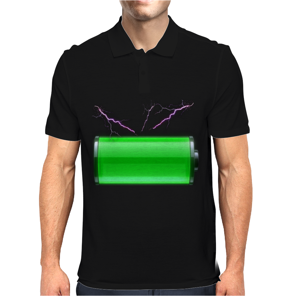 Charged and ready! Mens Polo