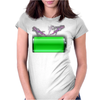 Charged and ready! Womens Fitted T-Shirt