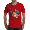 Charizard and Mario Mens T-Shirt