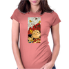 Charlie Brown Snoopy Womens Fitted T-Shirt