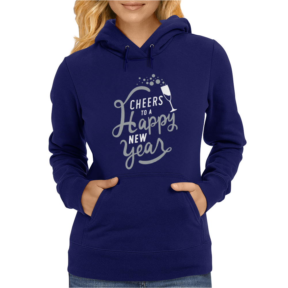 Cheers To A Happy New Year Womens Hoodie