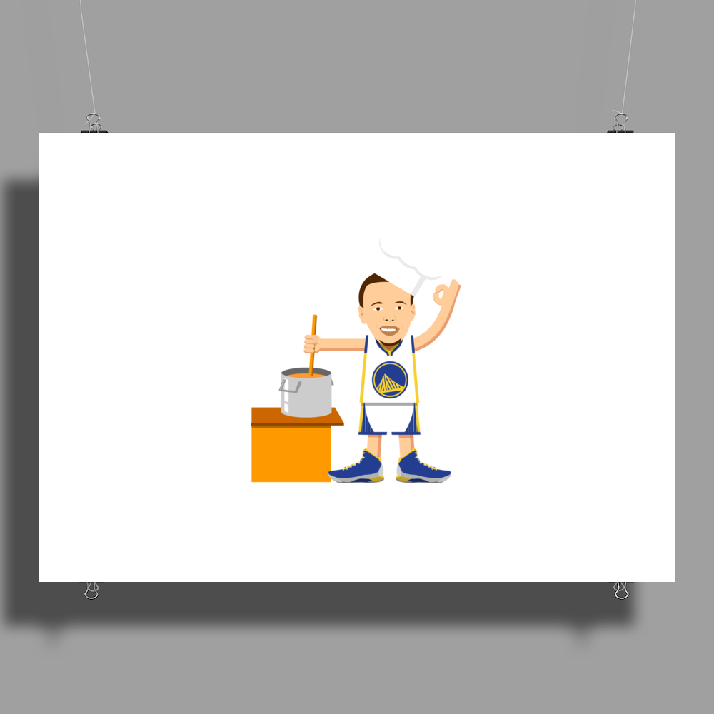 Chef Curry Widda Pot Boi! Poster Print (Landscape)