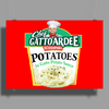 Chef Gattoardee Scoopski Potatoes In Gatto Potato Sauce Poster Print (Landscape)